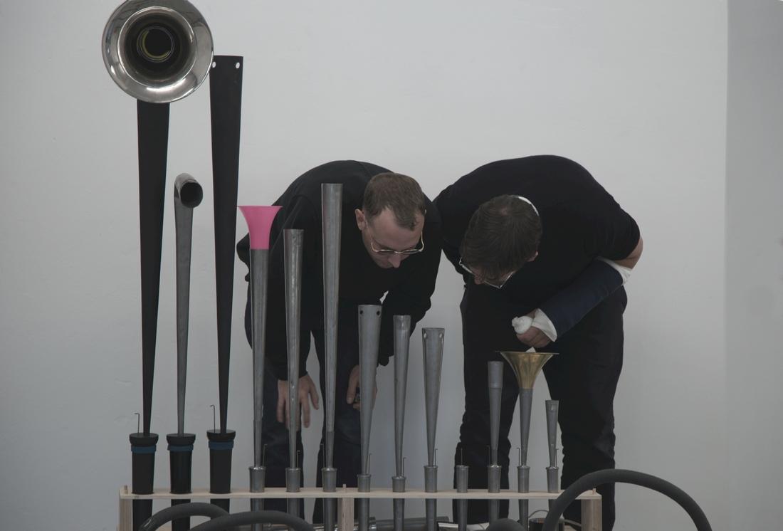 Konrad Sprenger and Phillip Sollmann - Modular Organ System. Photo: Benjamin Flieg