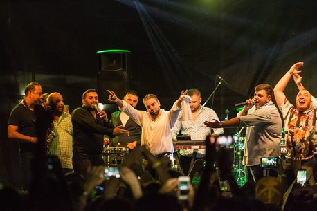 Florin Salam with band
