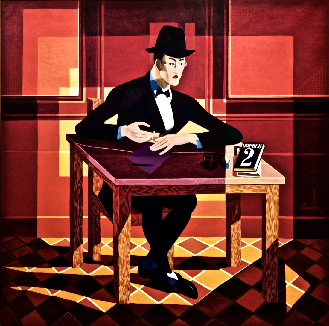 Portrait of Fernando Pessoa by José de Almada Negreiros, realized in 1964