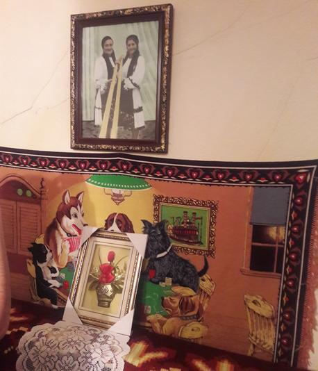 Inside Maria Coroiu's house